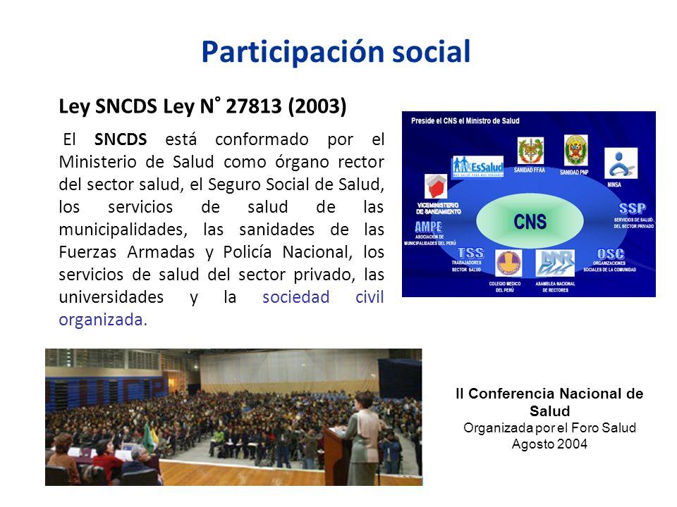 II Conferencia Nacional de Salud