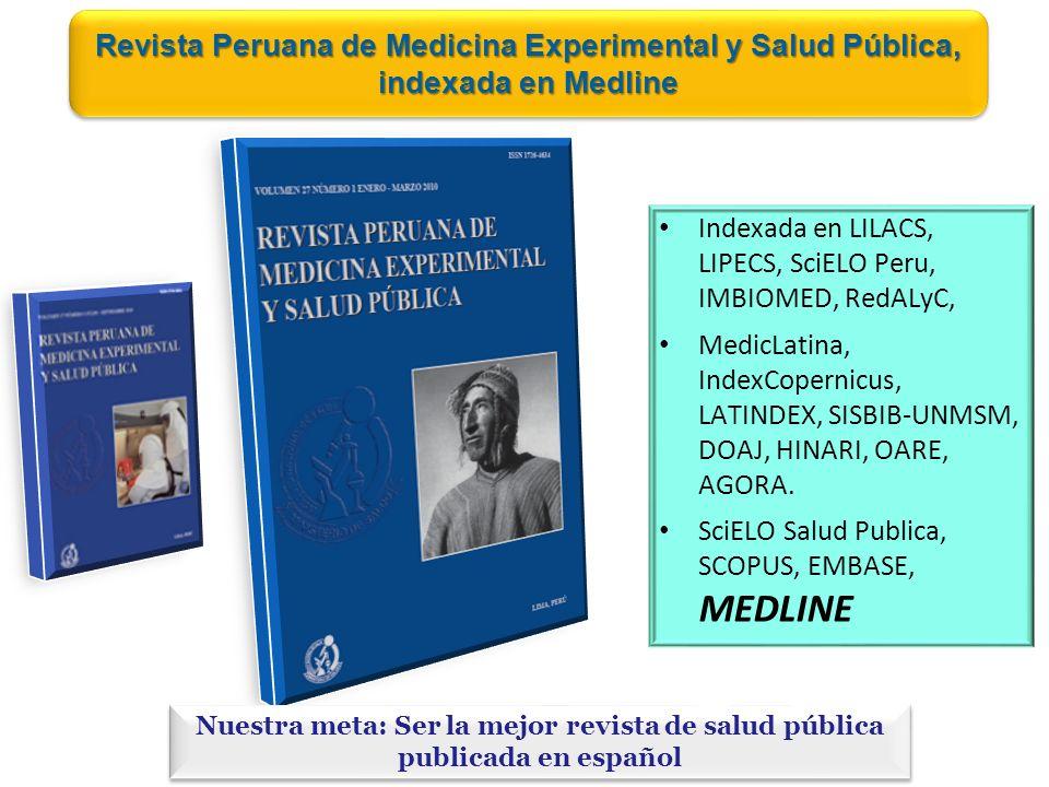 Revista Peruana de Medicina Experimental y Salud Pública, indexada en Medline