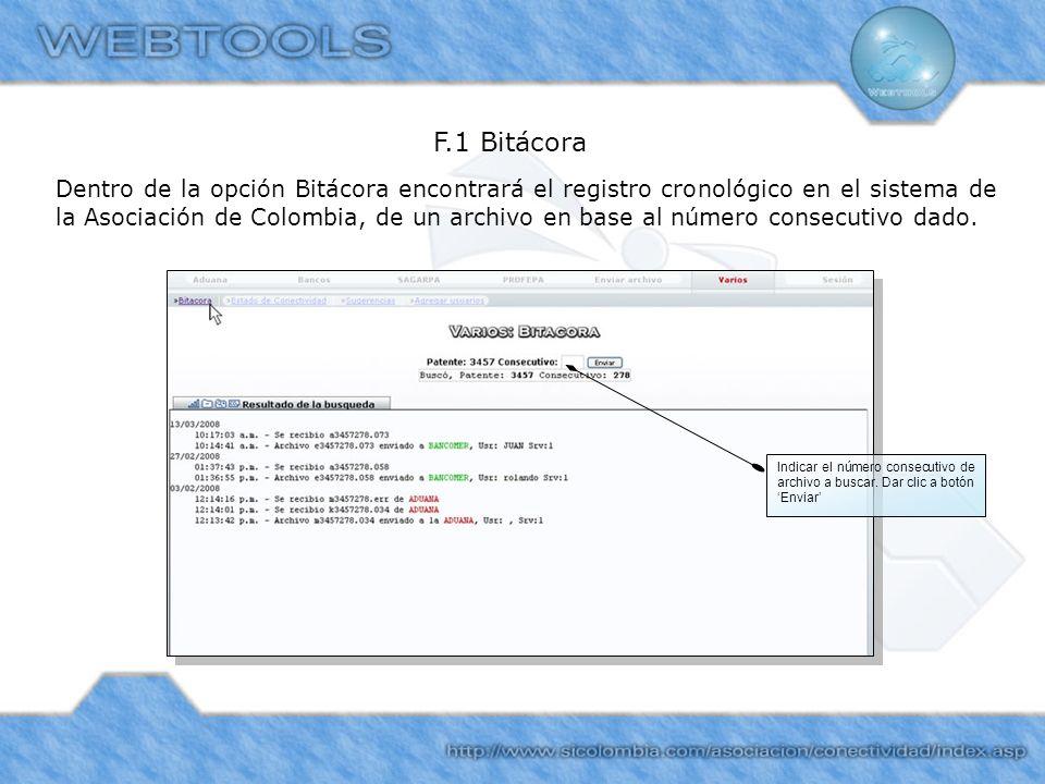 F.1 Bitácora