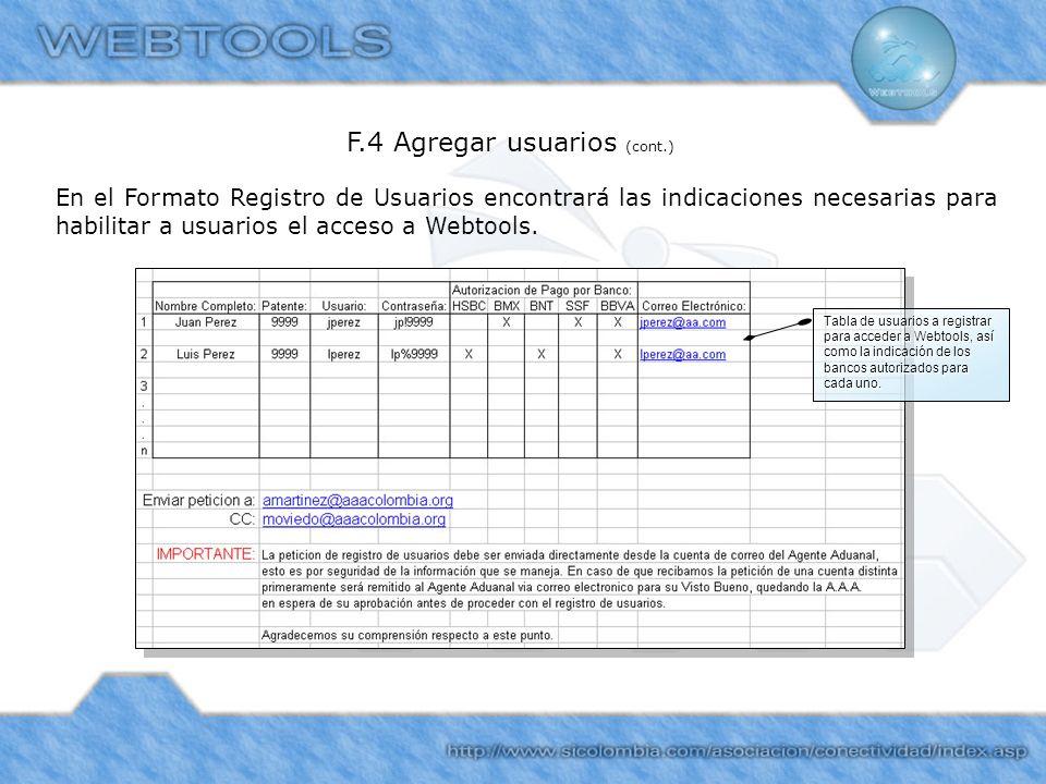 F.4 Agregar usuarios (cont.)