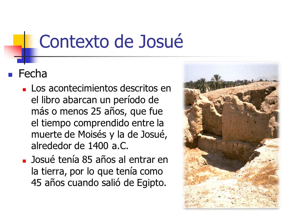 Contexto de Josué Fecha
