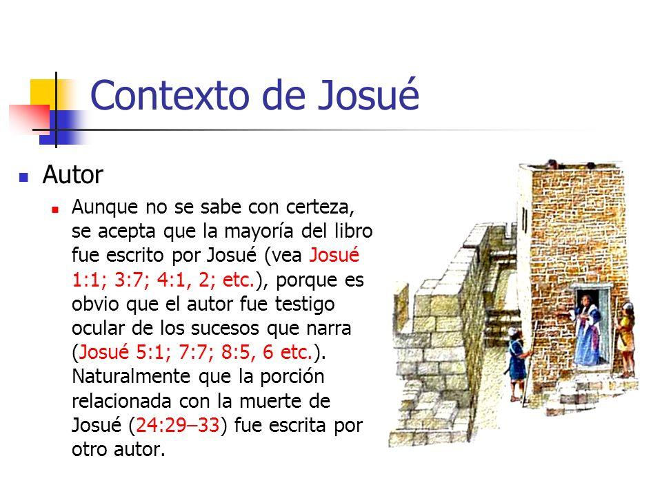 Contexto de Josué Autor