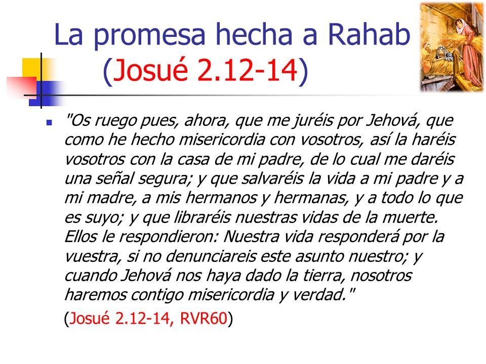 La promesa hecha a Rahab (Josué 2.12-14)