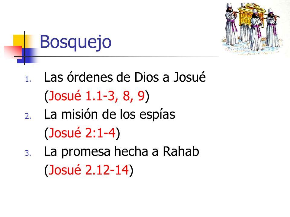 Bosquejo Las órdenes de Dios a Josué (Josué 1.1-3, 8, 9)