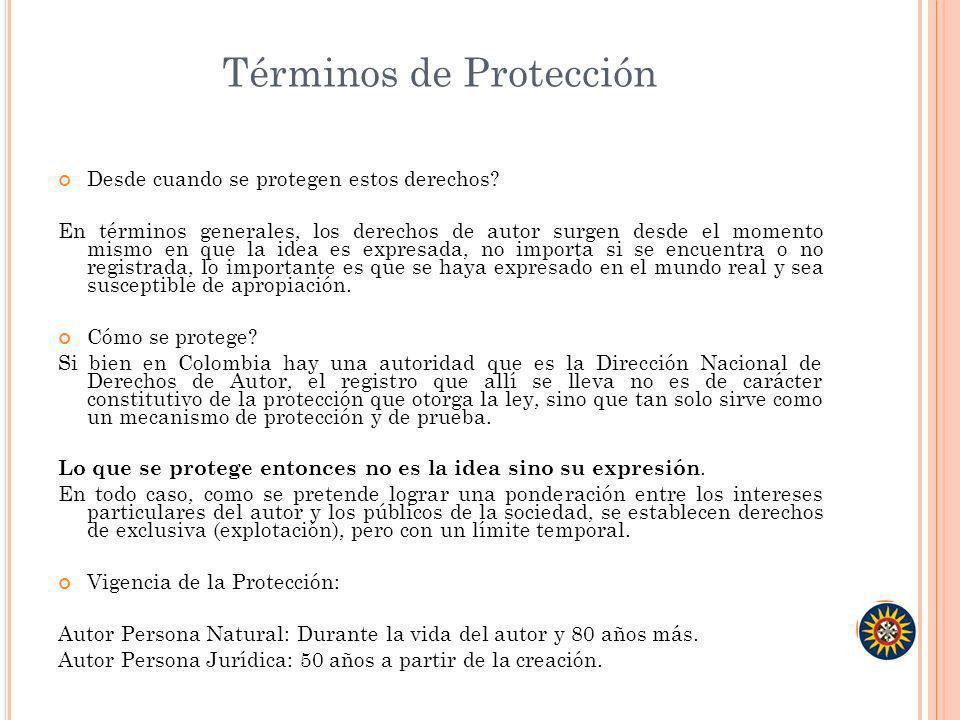 Términos de Protección