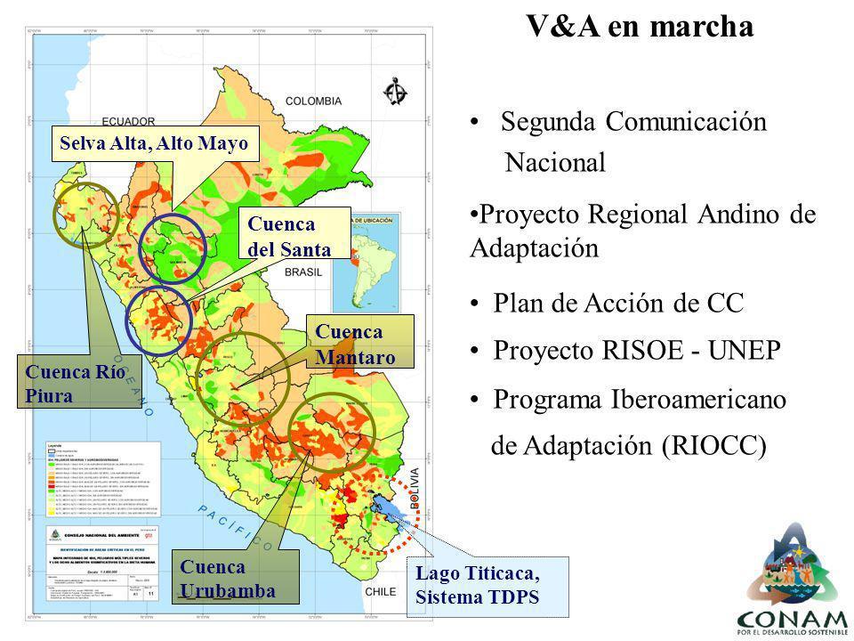 V&A en marcha Segunda Comunicación Nacional
