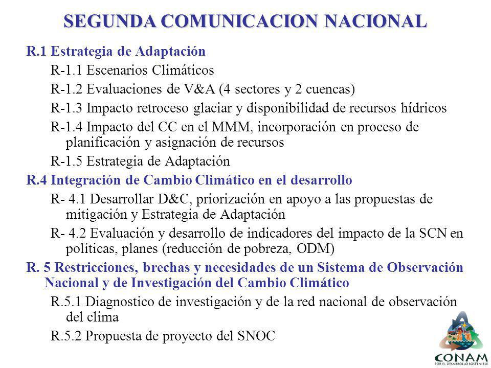 SEGUNDA COMUNICACION NACIONAL