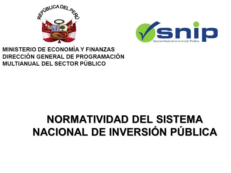 NORMATIVIDAD DEL SISTEMA NACIONAL DE INVERSIÓN PÚBLICA
