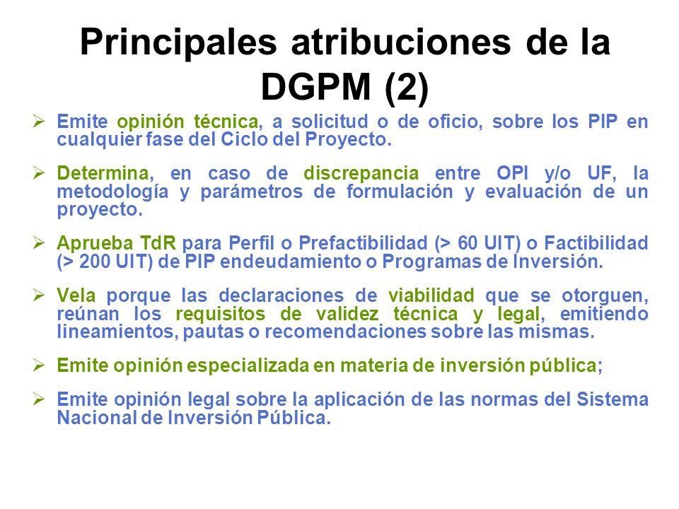 Principales atribuciones de la DGPM (2)