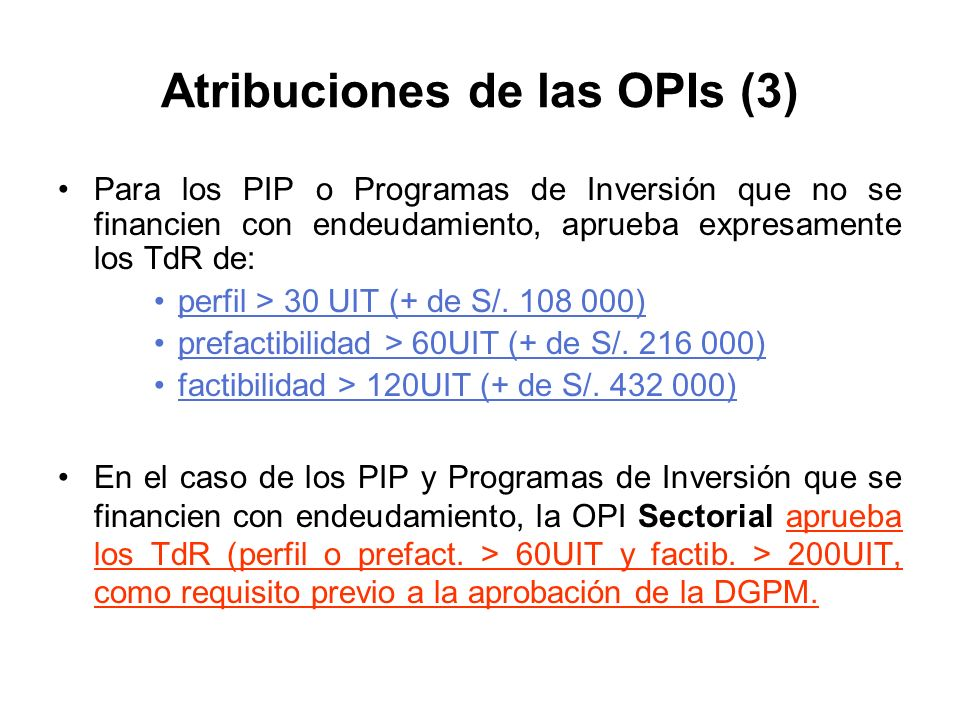 Atribuciones de las OPIs (3)