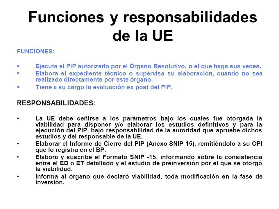 Funciones y responsabilidades de la UE