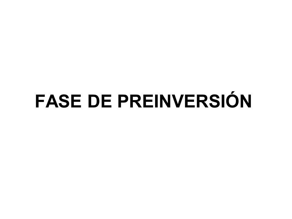 FASE DE PREINVERSIÓN