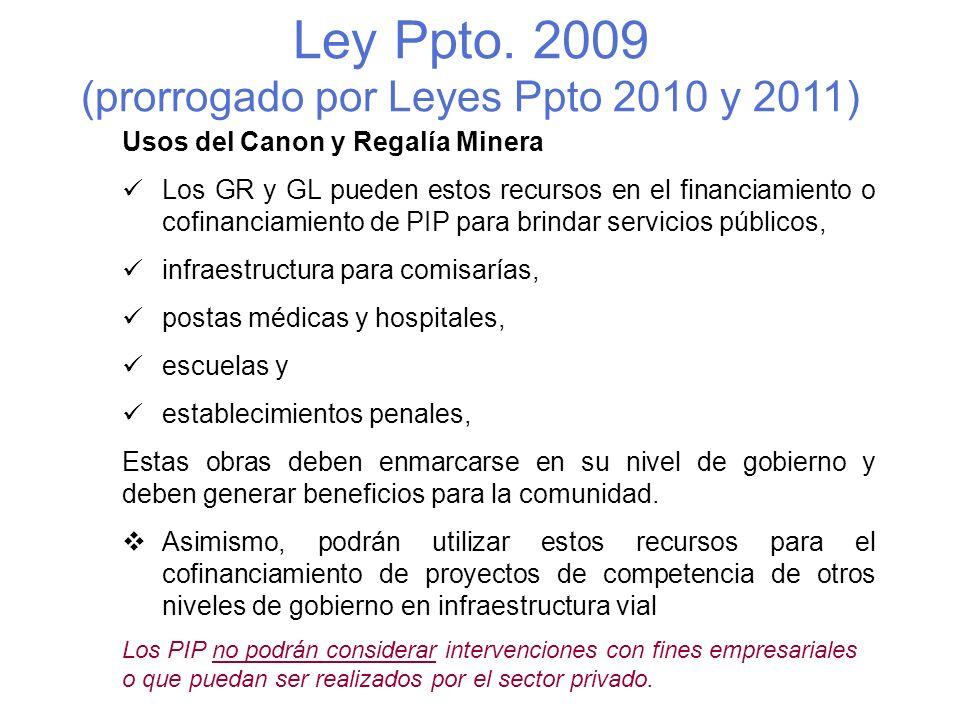 (prorrogado por Leyes Ppto 2010 y 2011)