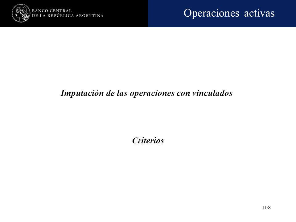Imputación de las operaciones con vinculados