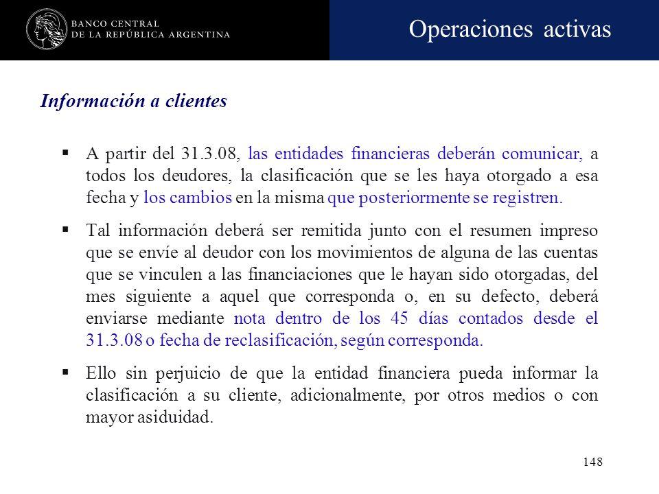 Información a clientes