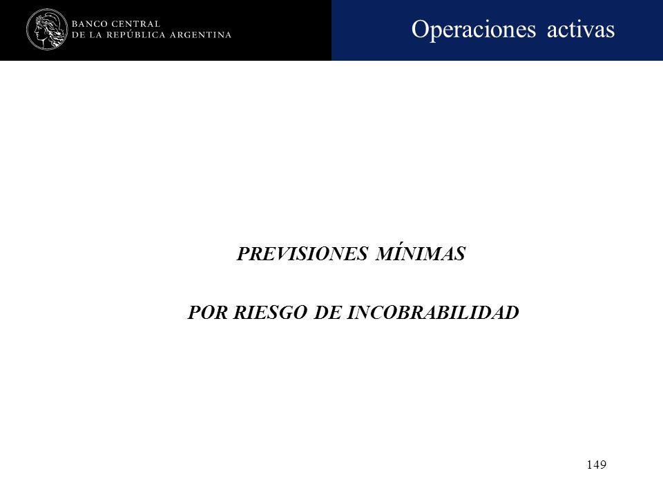 PREVISIONES MÍNIMAS POR RIESGO DE INCOBRABILIDAD