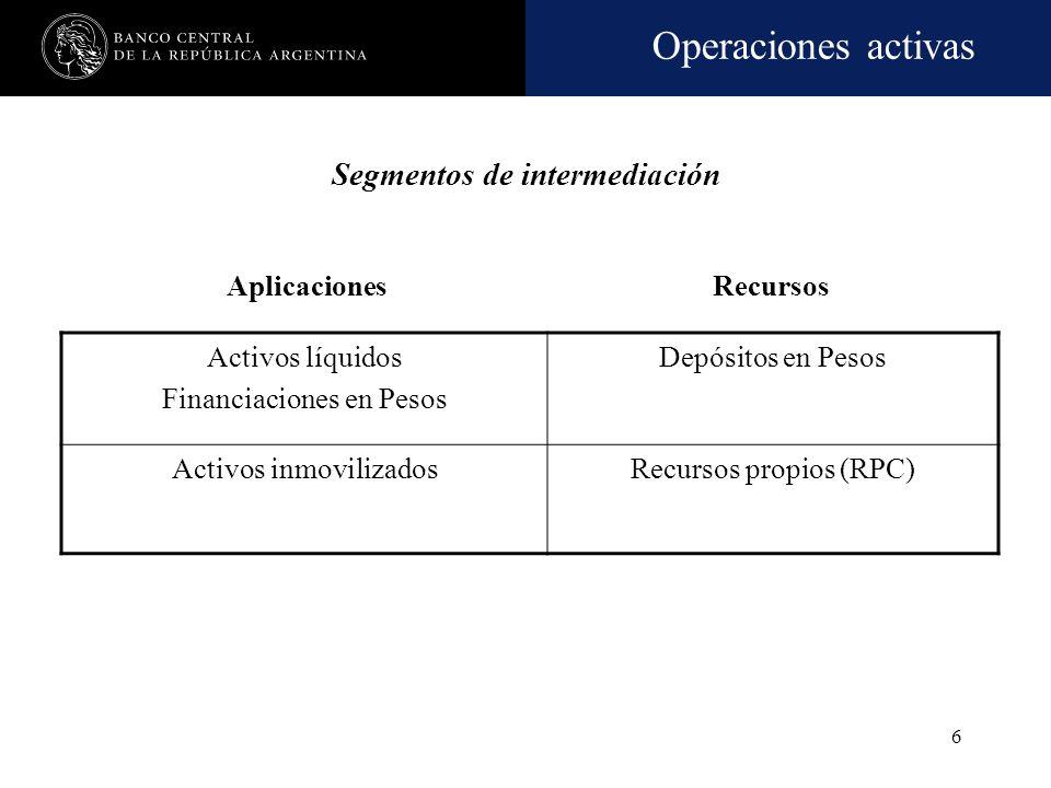 Segmentos de intermediación