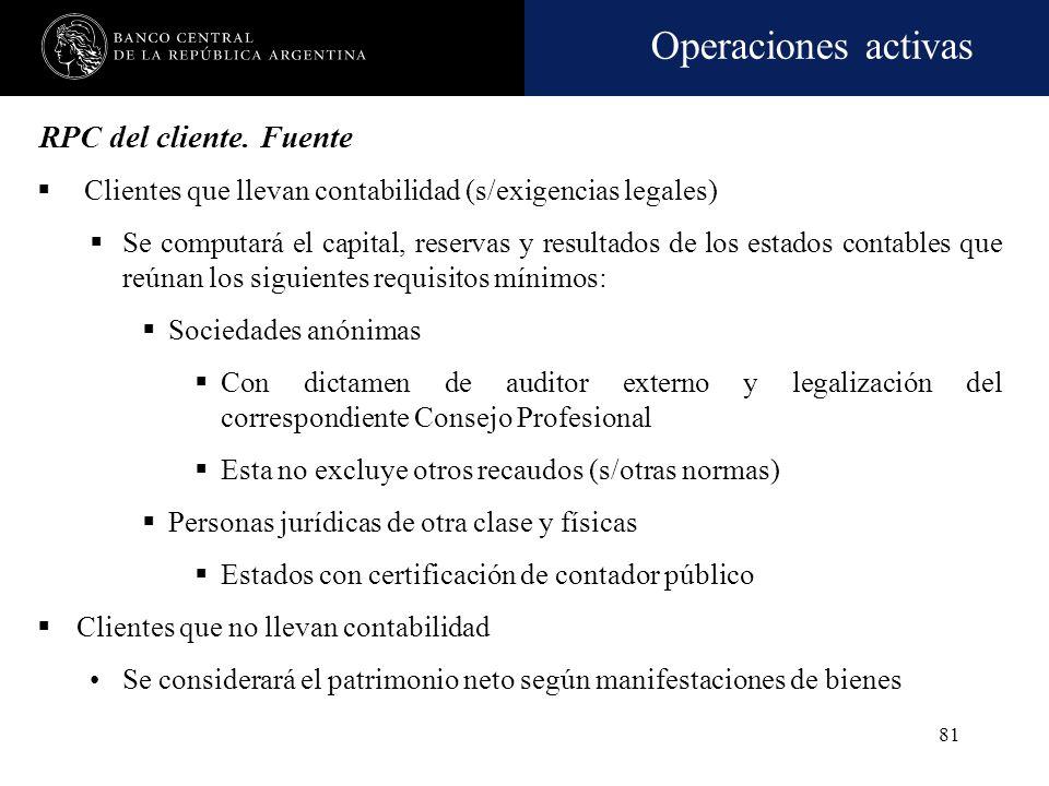 RPC del cliente. FuenteClientes que llevan contabilidad (s/exigencias legales)