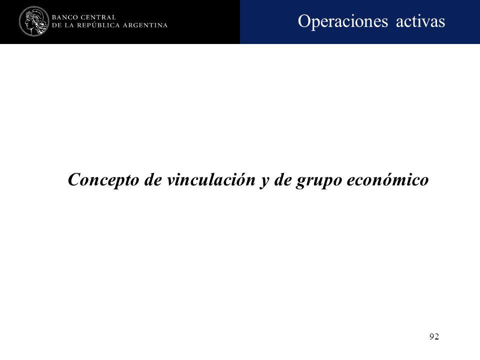 Concepto de vinculación y de grupo económico