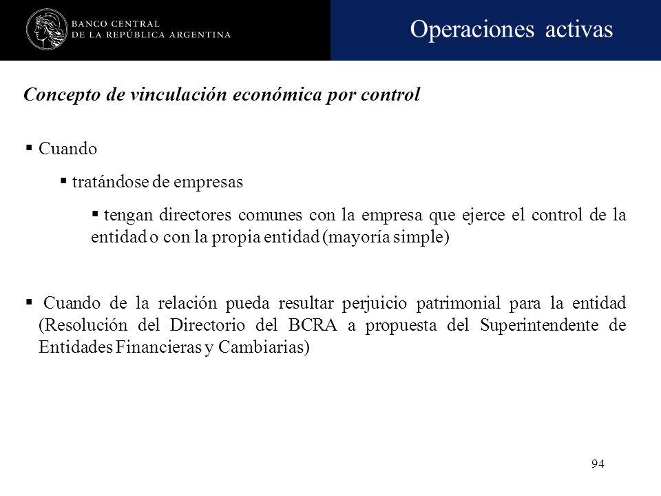 Concepto de vinculación económica por control
