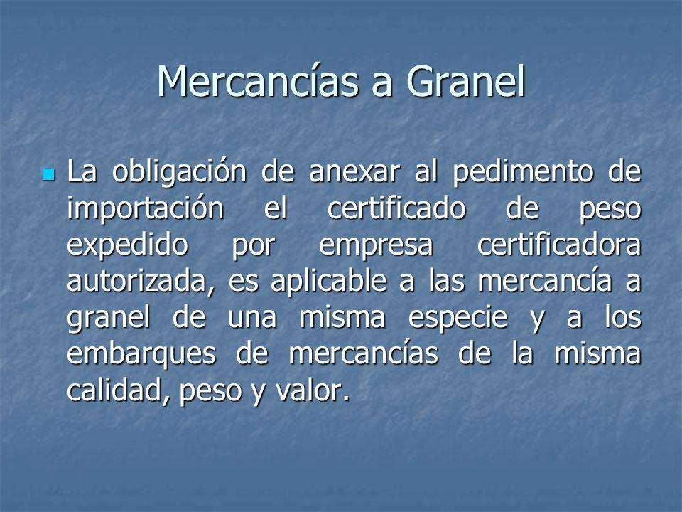 Mercancías a Granel