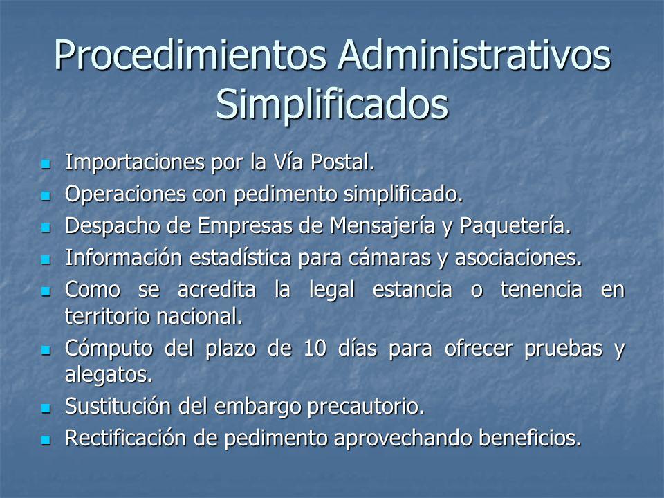 Procedimientos Administrativos Simplificados
