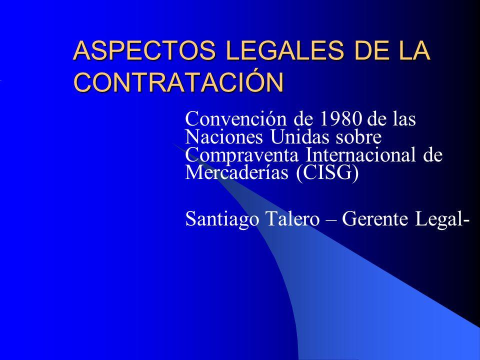 ASPECTOS LEGALES DE LA CONTRATACIÓN