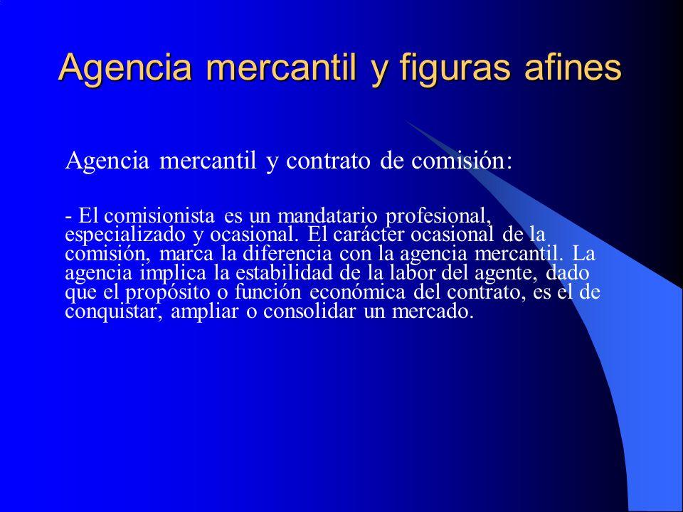 Agencia mercantil y figuras afines