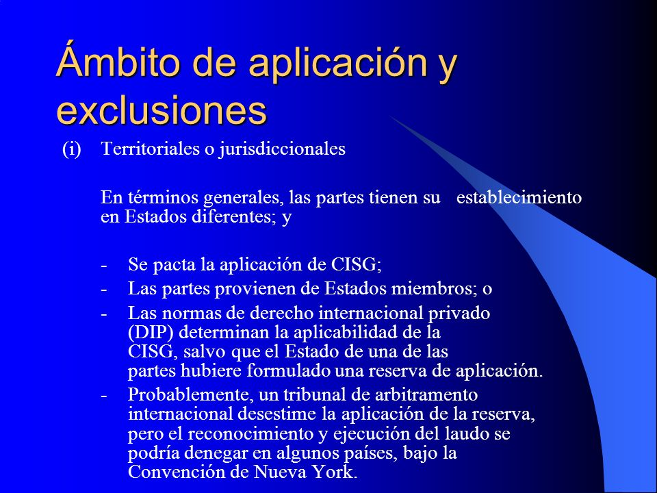Ámbito de aplicación y exclusiones