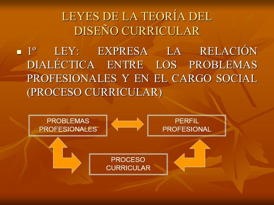 LEYES DE LA TEORÍA DEL DISEÑO CURRICULAR