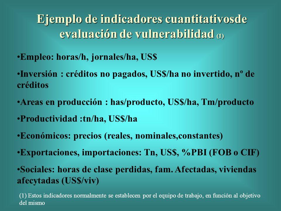 Ejemplo de indicadores cuantitativosde evaluación de vulnerabilidad (1)