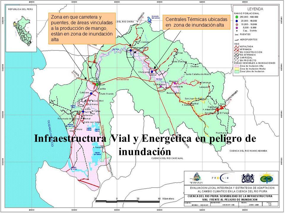 Infraestructura Vial y Energética en peligro de inundación