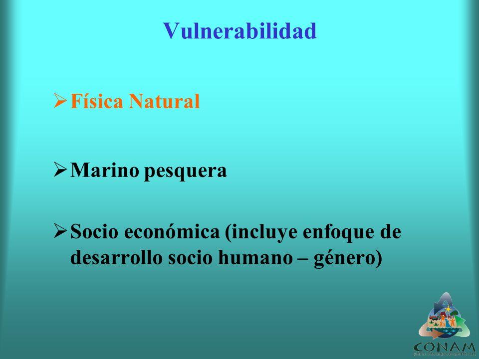 Vulnerabilidad Física Natural Marino pesquera