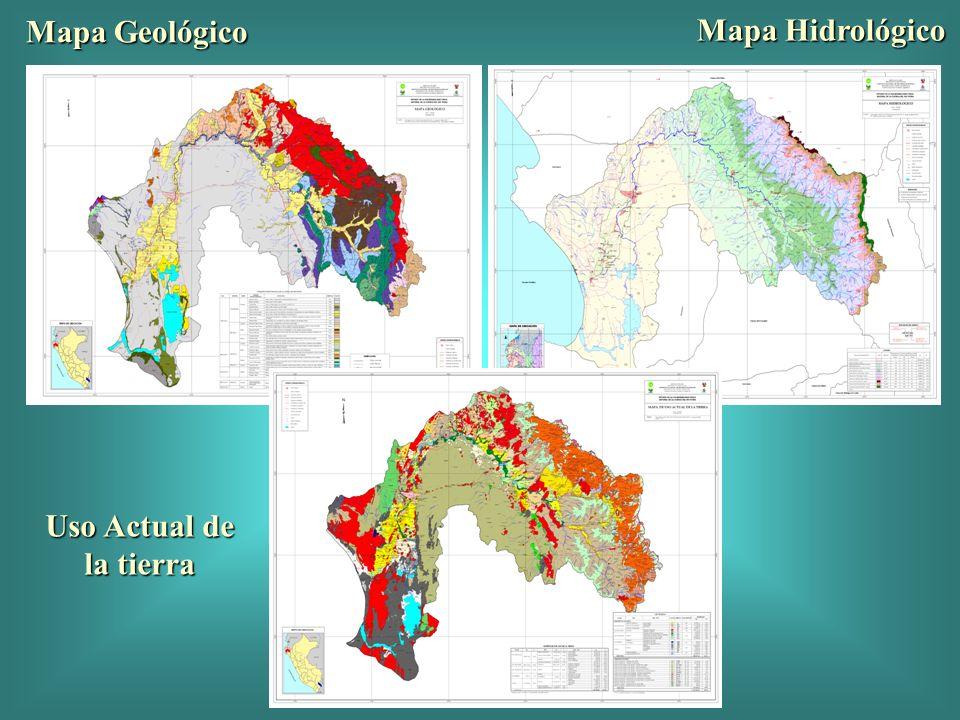 Mapa Geológico Mapa Hidrológico Uso Actual de la tierra