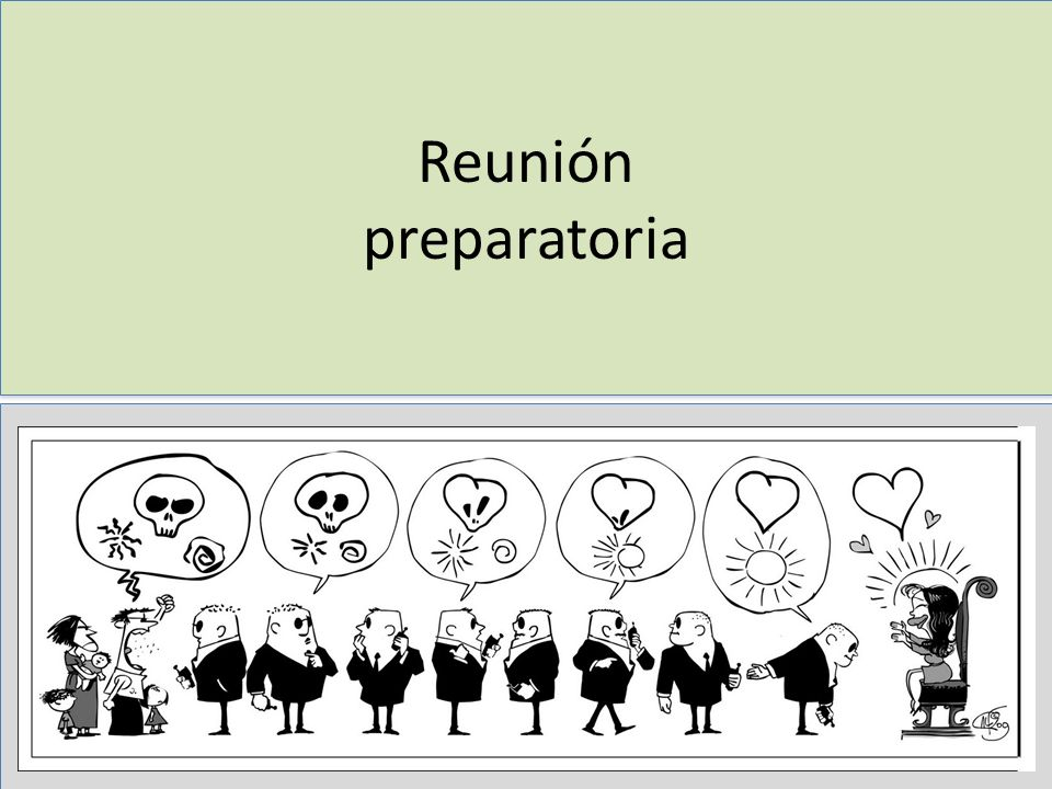 Reunión preparatoria