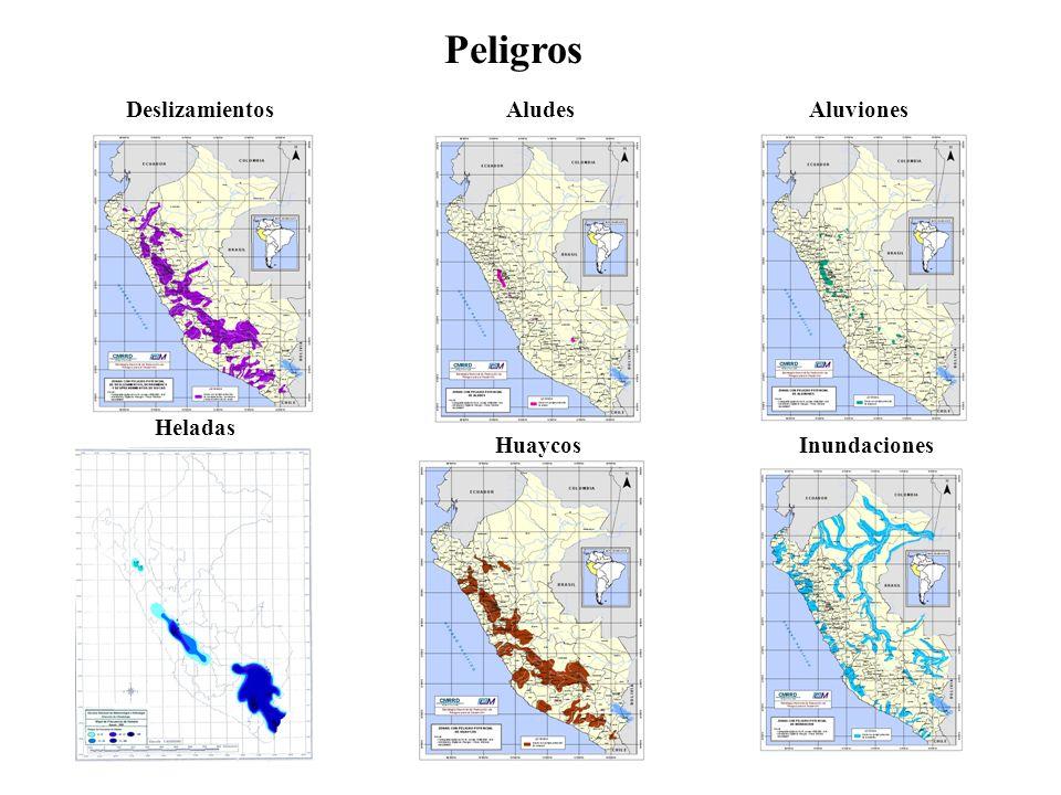 Peligros Deslizamientos Aludes Aluviones Heladas Huaycos Inundaciones