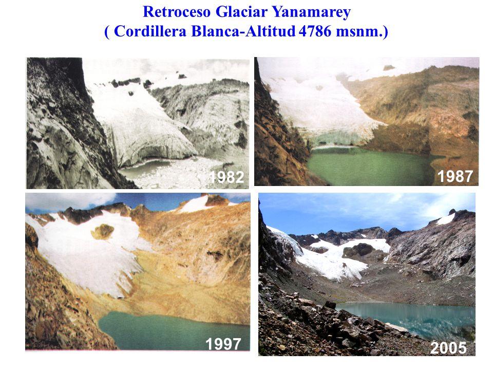 Retroceso Glaciar Yanamarey ( Cordillera Blanca-Altitud 4786 msnm.)