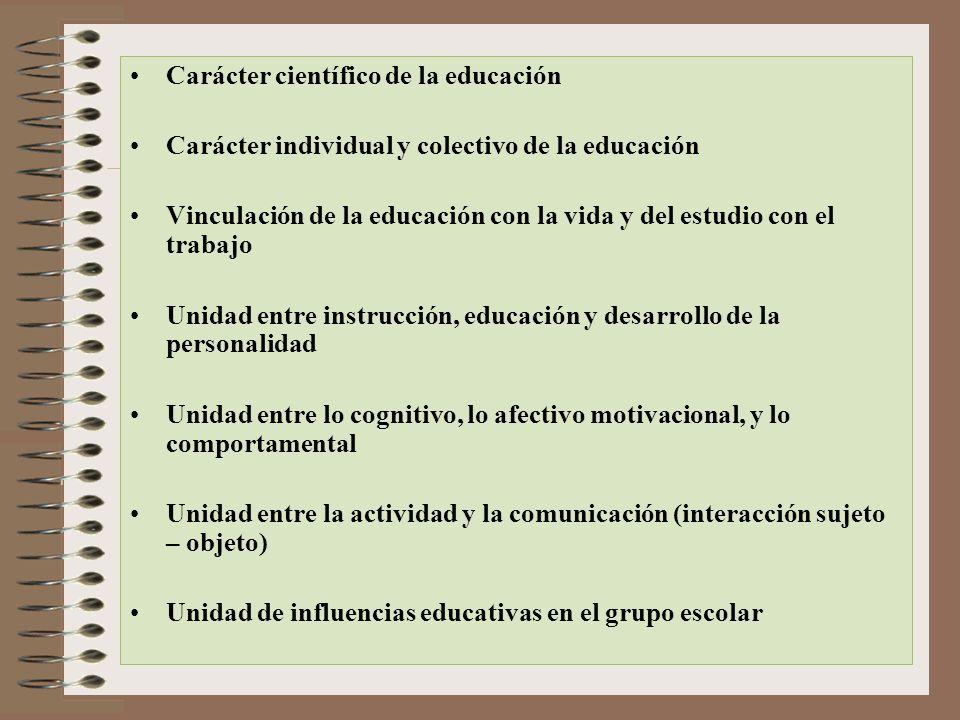 Carácter científico de la educación