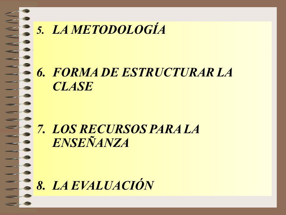 6. FORMA DE ESTRUCTURAR LA CLASE