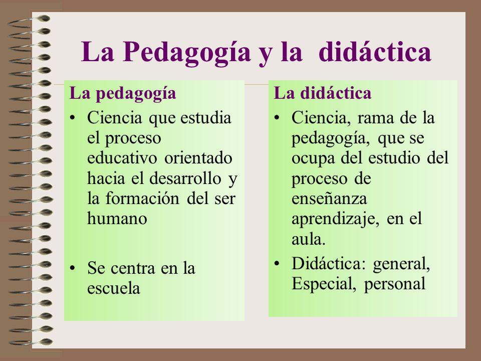 La Pedagogía y la didáctica
