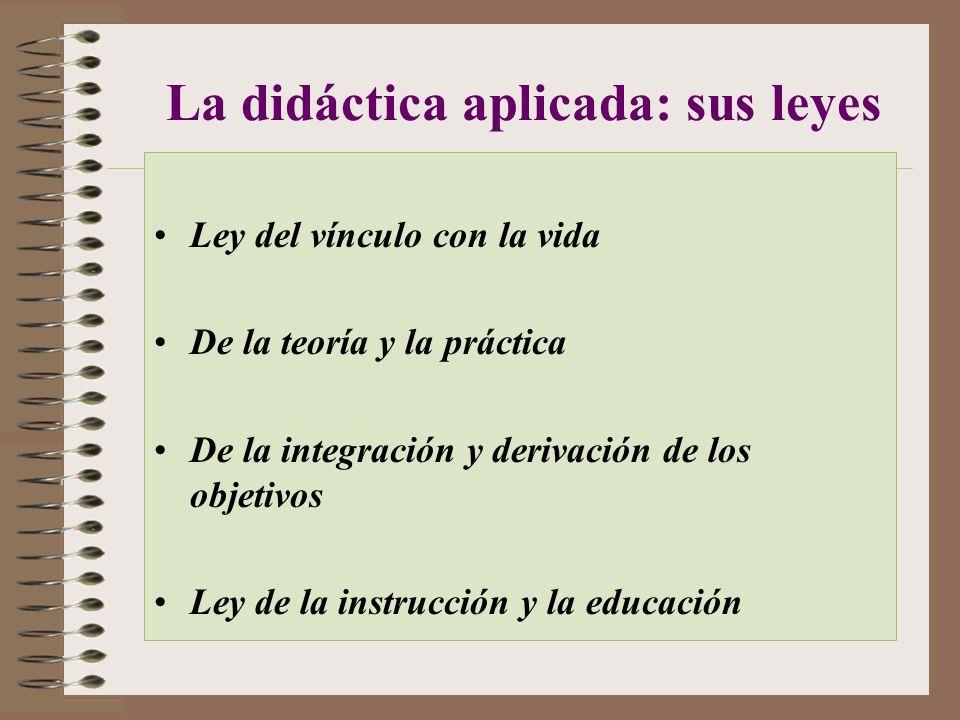 La didáctica aplicada: sus leyes