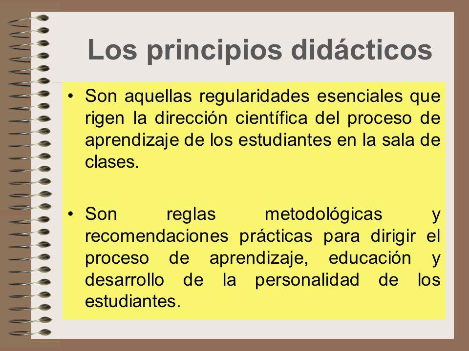 Los principios didácticos