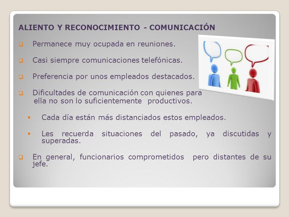 ALIENTO Y RECONOCIMIENTO - COMUNICACIÓN