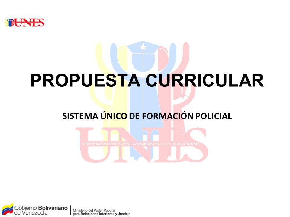 SISTEMA ÚNICO DE FORMACIÓN POLICIAL
