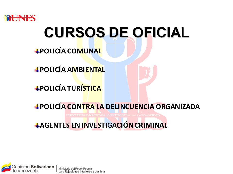 CURSOS DE OFICIAL POLICÍA COMUNAL POLICÍA AMBIENTAL POLICÍA TURÍSTICA