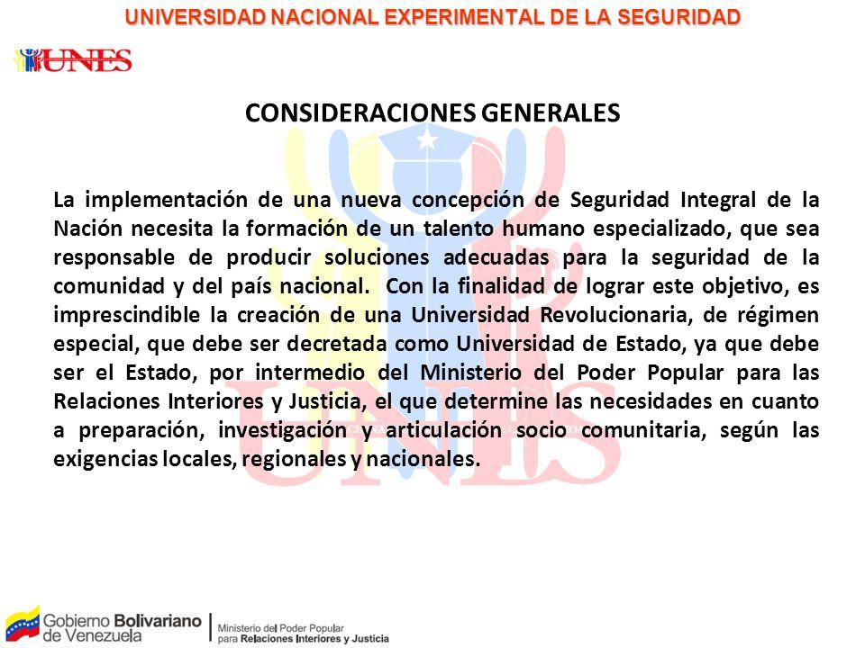 UNIVERSIDAD NACIONAL EXPERIMENTAL DE LA SEGURIDAD
