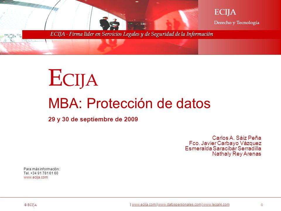Sobre ECIJA - Firma líder en Servicios Legales y de Seguridad de la Información