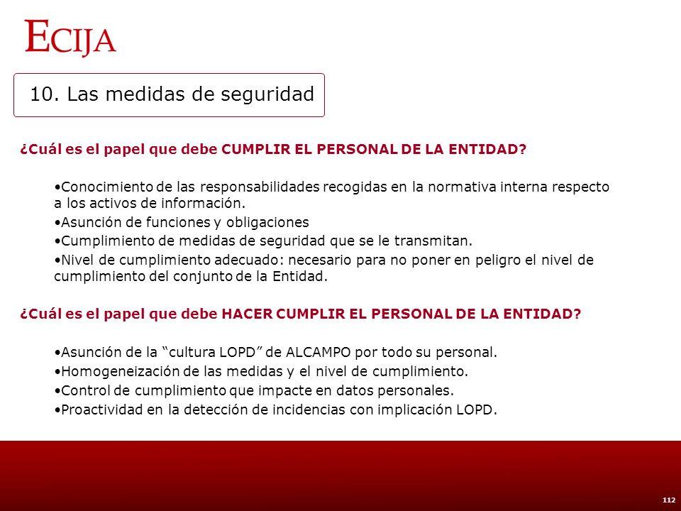 BÁSICO MEDIO ALTO 10. Las medidas de seguridad Identificativos