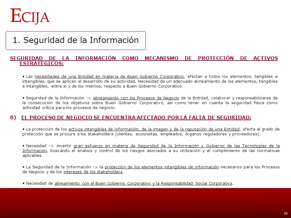 1. Seguridad de la Información