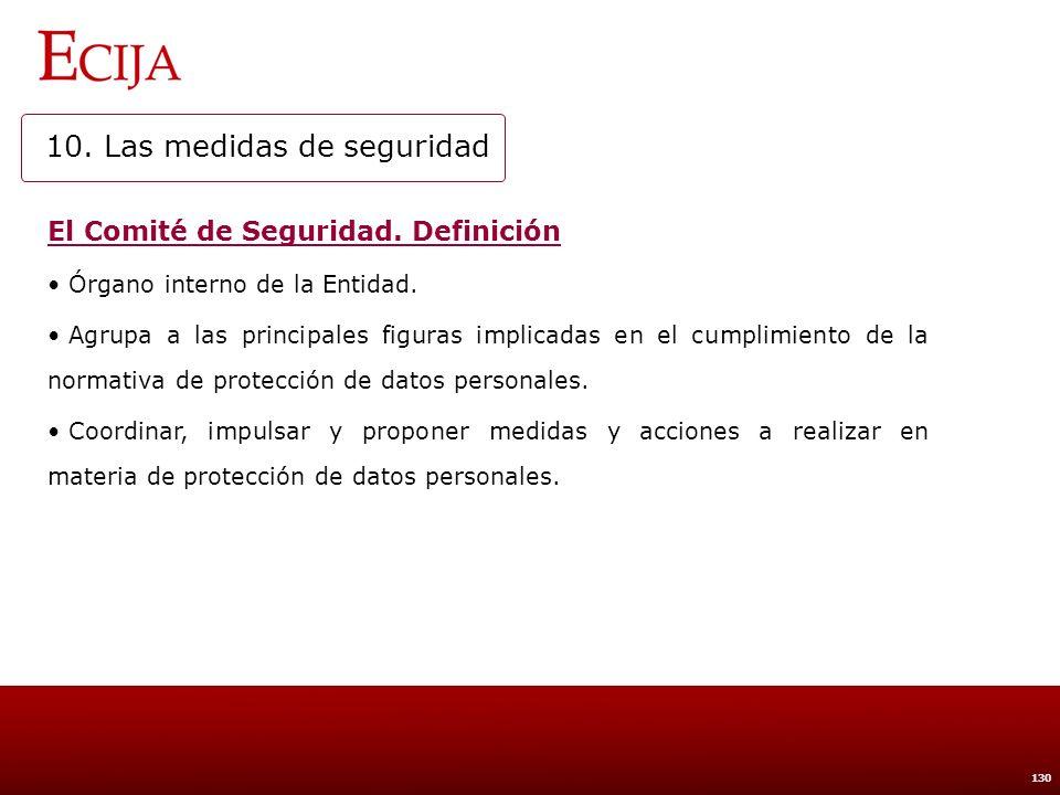 10. Las medidas de seguridad
